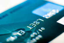 Close-up Credit Card On A White Background