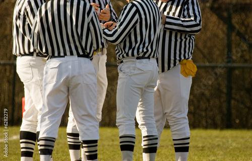 Leinwand Poster arbitre arbitrage juge jeu terrain uniforme sport