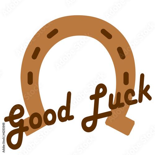 Fototapeta horseshoe - symbol of good luck