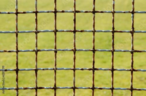 Hintergrund Rostiger Drahtgitter Zaun Buy This Stock Photo And