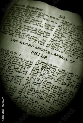 second  general epistle of peter in the new testament Tablou Canvas