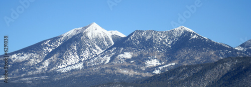 Staande foto Arizona Arizona's San Francisco Peaks in Winter