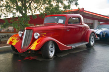 A 30s Ford Hotrod With Flames ...
