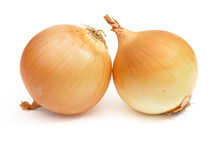 Pair Of Onions Isolated /w Clipping Path