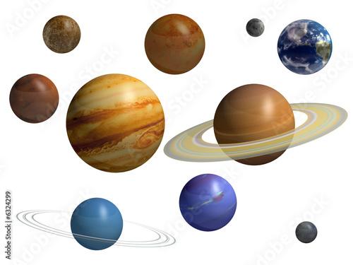 einzelne bedruckte Lamellen - Planets (von Torian)