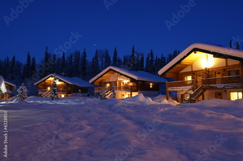 Fotografie, Obraz  Recreational Winter Chalets