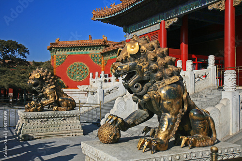 Foto op Canvas Peking The historical Forbidden City in Beijing