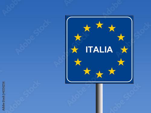 Photo  cartello italia