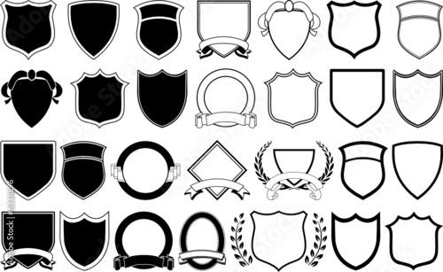 Fototapeta Logo Elements - Various shields and crests obraz