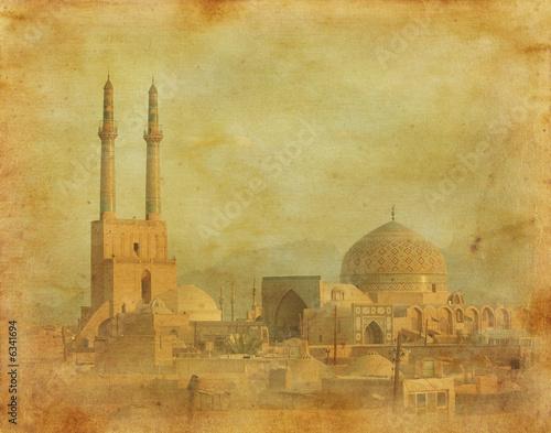 Poster Moyen-Orient vintage image of Yazd, Iran