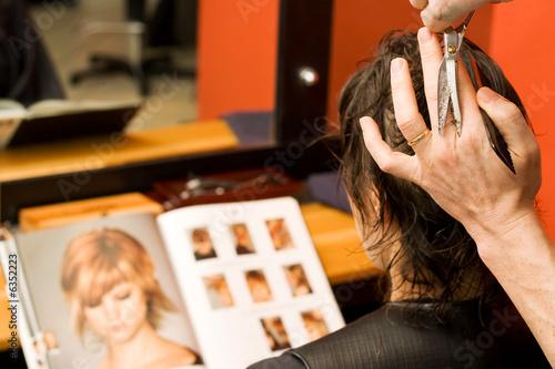 Coupe coiffeur Fototapete
