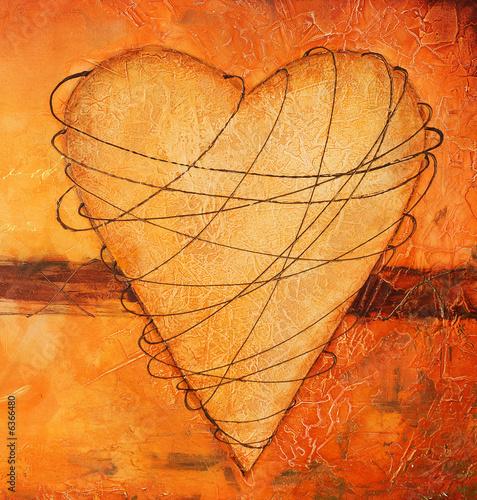 Foto-Stoff bedruckt - Malerei Herz (von Sunnydays)