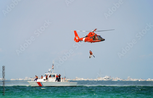 Poster Helicopter Coast guard rescue