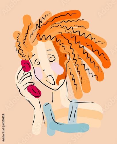 vector image of panic talk Canvas Print