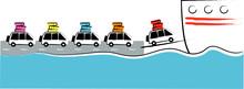 Cars Boarding Ferry
