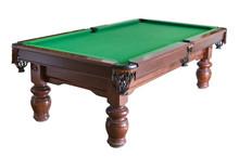 Empty Billiard Table Isolated ...