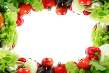 Frame: Fresh Vegetables, Fruits And Other Foodstuffs.