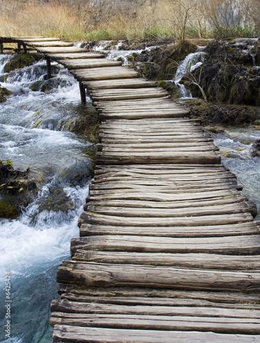 Keuken foto achterwand Bruggen wooden bridge