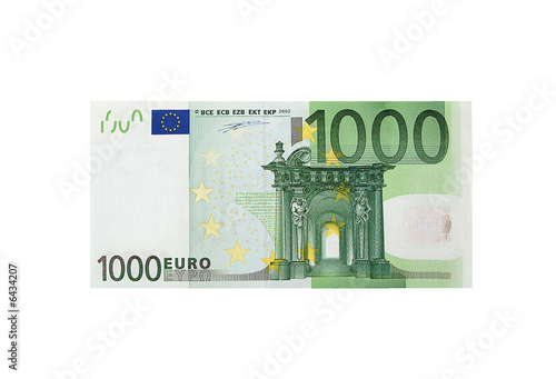 Fotografía  3 fictitious bills of 1000 euros