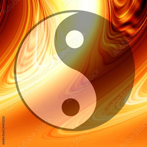 Foto-Stoff bedruckt - Yin yang symbol (von Argus)