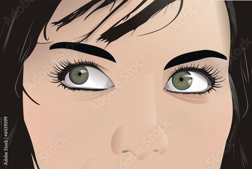 tajemniczy-wzrok-kobiety-komiks