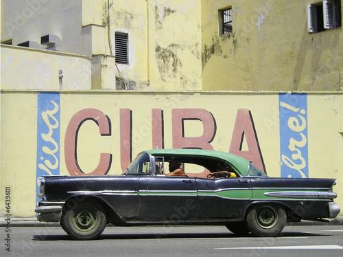 Türaufkleber Autos aus Kuba Kuba Wand