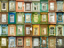 32 Multicolored Tradition Windows From Russian Town Murom.