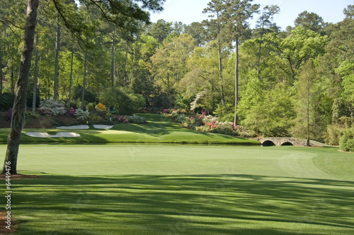 Spoed Foto op Canvas Golf 12th Hole at Augusta national