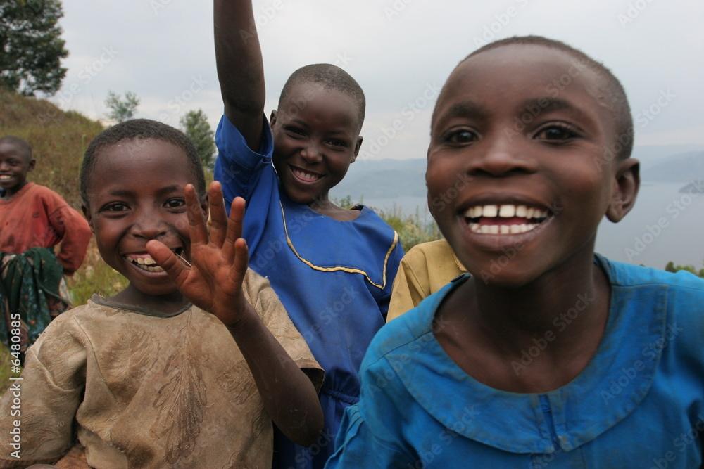 Fototapety, obrazy: enfants rwanda