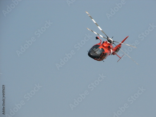 Staande foto coast guard helicopter