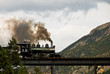 Steam Engine on a Mountain Bridge