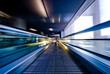 canvas print picture - moving escalator