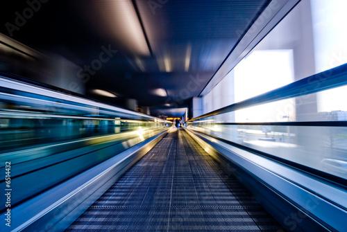 moving escalator Canvas Print