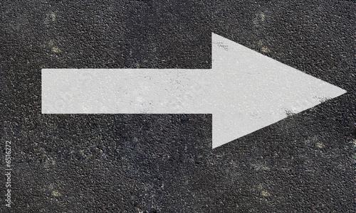 Fotografie, Obraz  road arrow