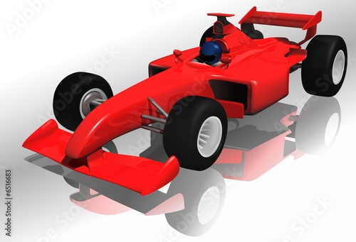 Poster de jardin Voitures enfants Ferrari F1 - highly detailed illustration
