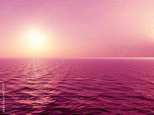Wall Murals Light pink Sunset