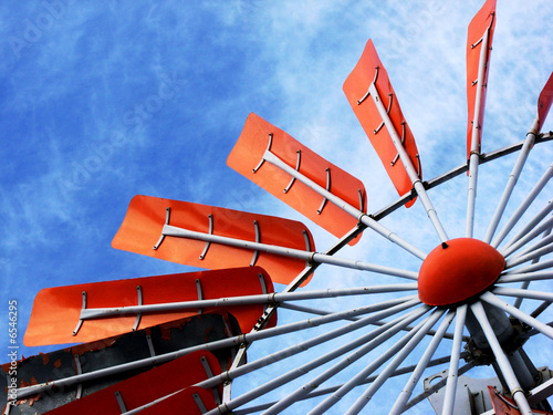 Orange Windmill Blades