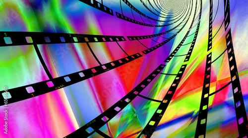 Valokuva  Colorful Filmstrips Swirl