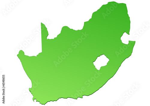 Carte Dafrique Du Sud.Carte D Afrique Du Sud Verte Buy This Stock Vector And