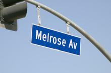 Melrose Ave Street Sign