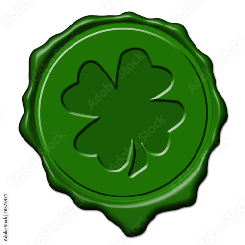 Shamrock green wax seal Poster