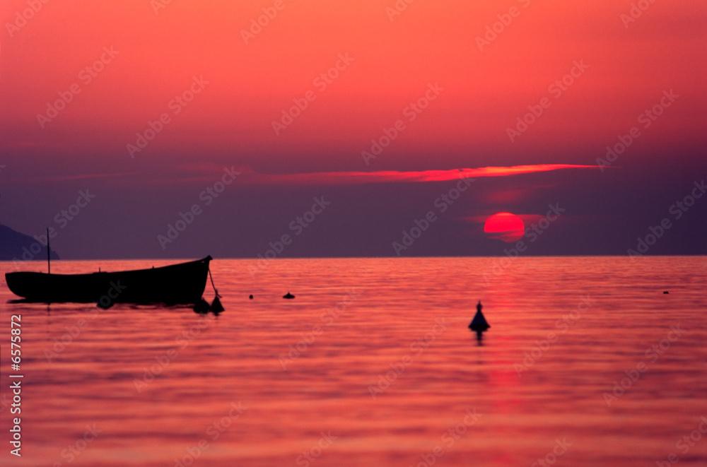 Foto-Schiebegardine Komplettsystem - Sunset, Elba Island.