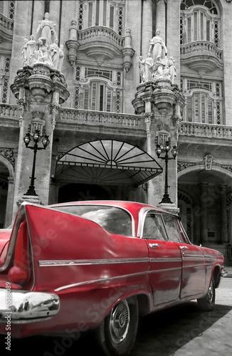 Naklejka Czerwony samochód