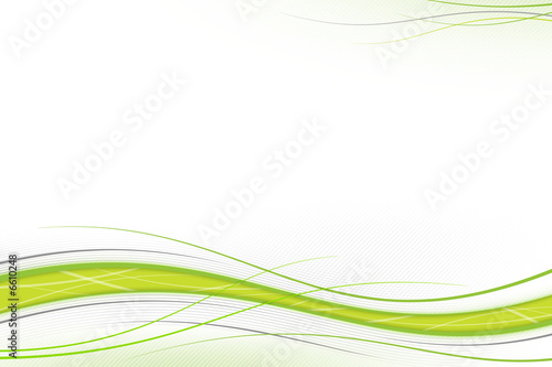 Deurstickers Abstract wave Green and gray waves
