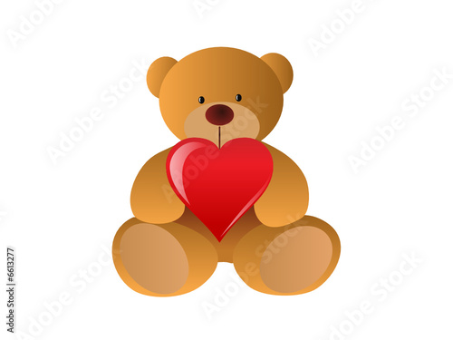 Toy bear with heart #6613277