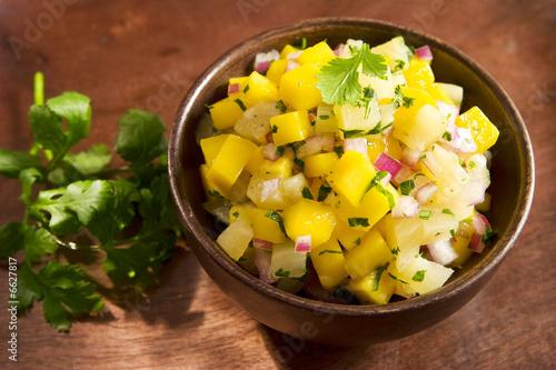 Fotografie, Obraz  Mango pineapple salsa