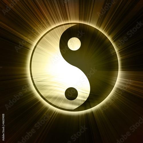 Foto-Stoff bedruckt - Yin Yang sign (von Argus)