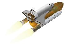 Vector -  Space Shuttle On Car...