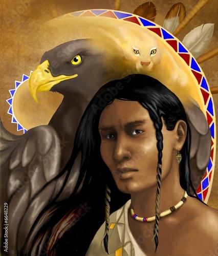 Poster Indiens spirit of hawk