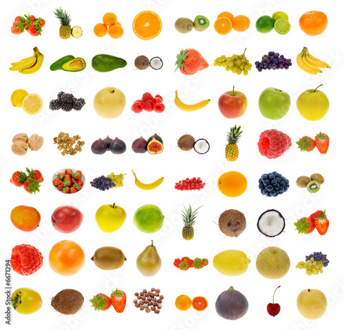 Poster  collection of fruit and nuts